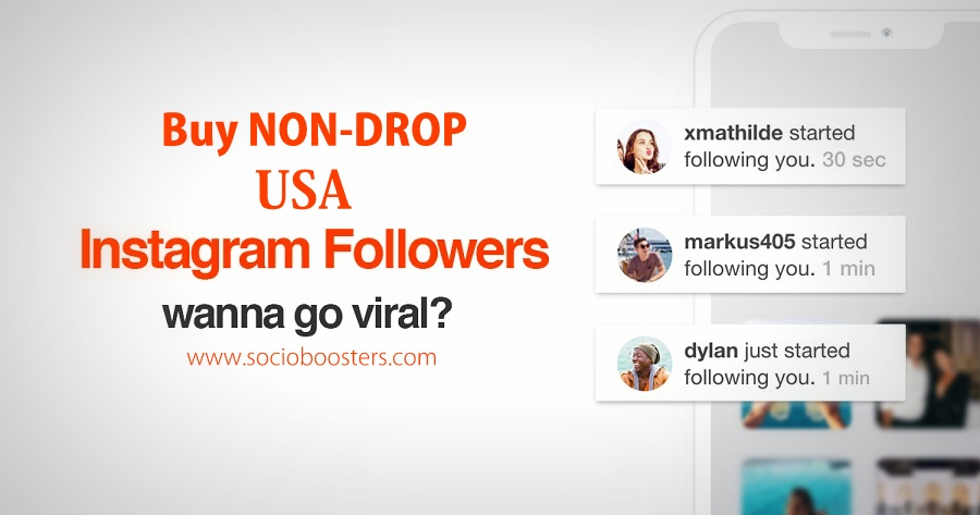Buy Non-Drop USA Instagram followers